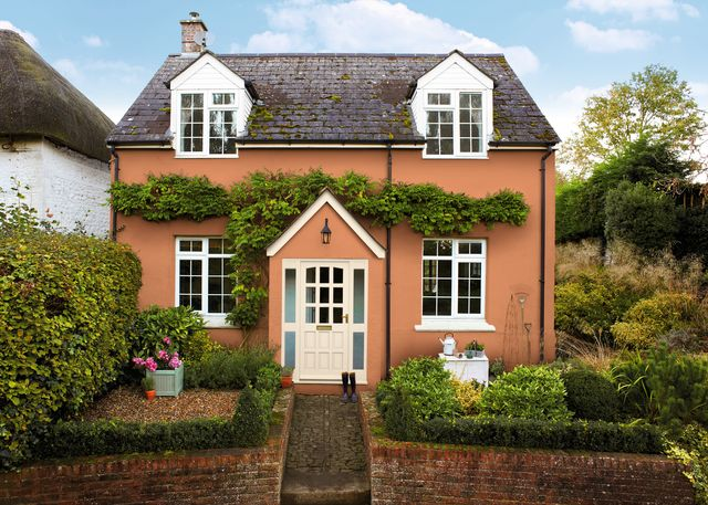 terracotta cottage exterior white trim