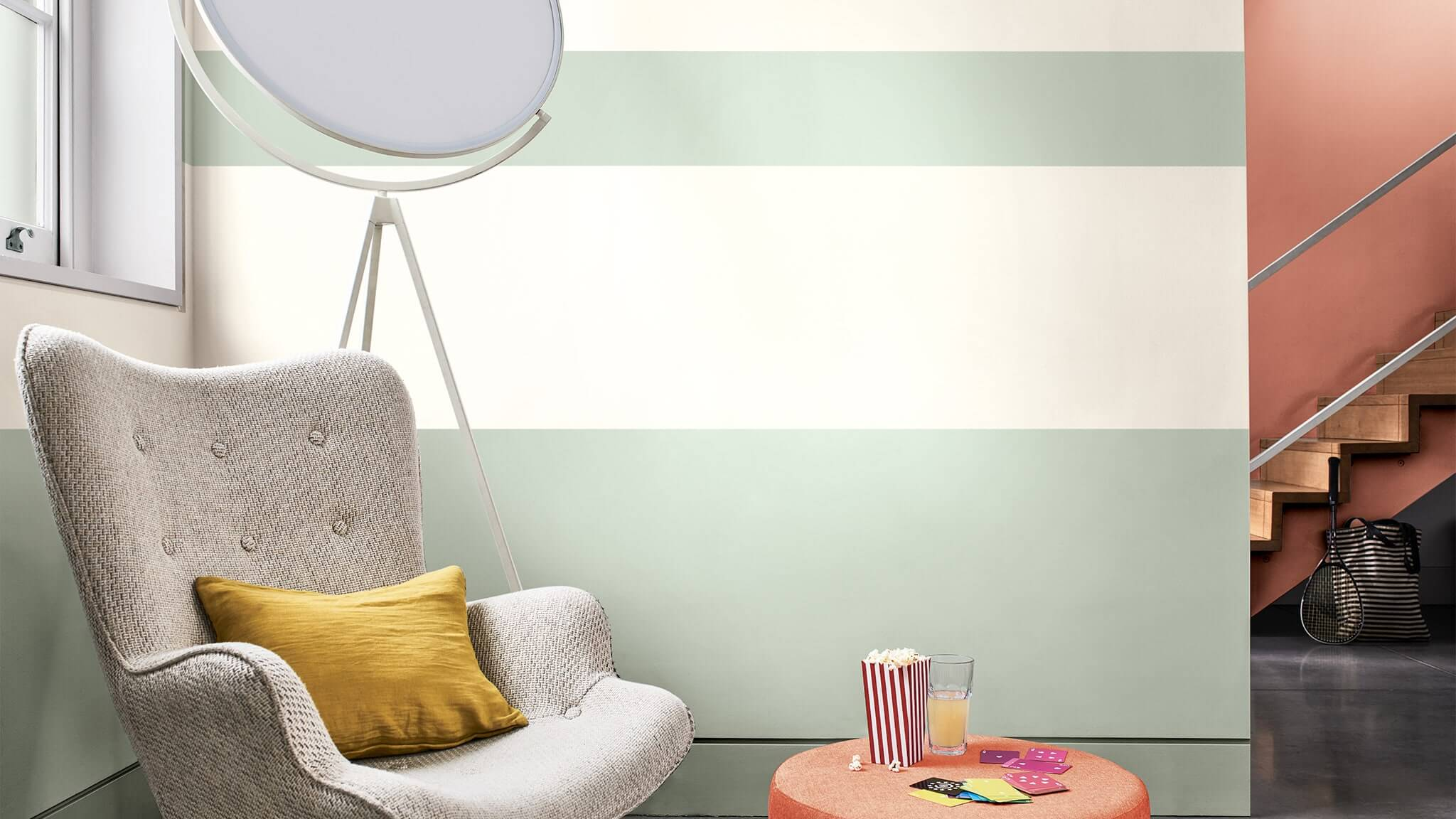 How To Paint Stripes On A Wall With Tranquil Dawn Dulux